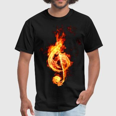 treble clef on fire - Men's T-Shirt