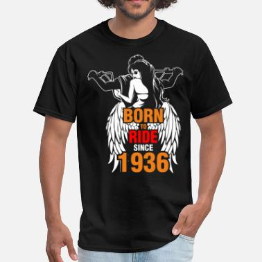 Born In 1936 Born to Ride Since 1936 - Men's T-Shirt
