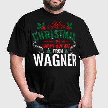 mery_christmas_happy_new_year_from_wagne - Men's T-Shirt