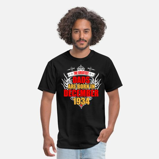 1934 T-Shirts - The Greatest Dads are born in December 1934 - Men's T-Shirt black