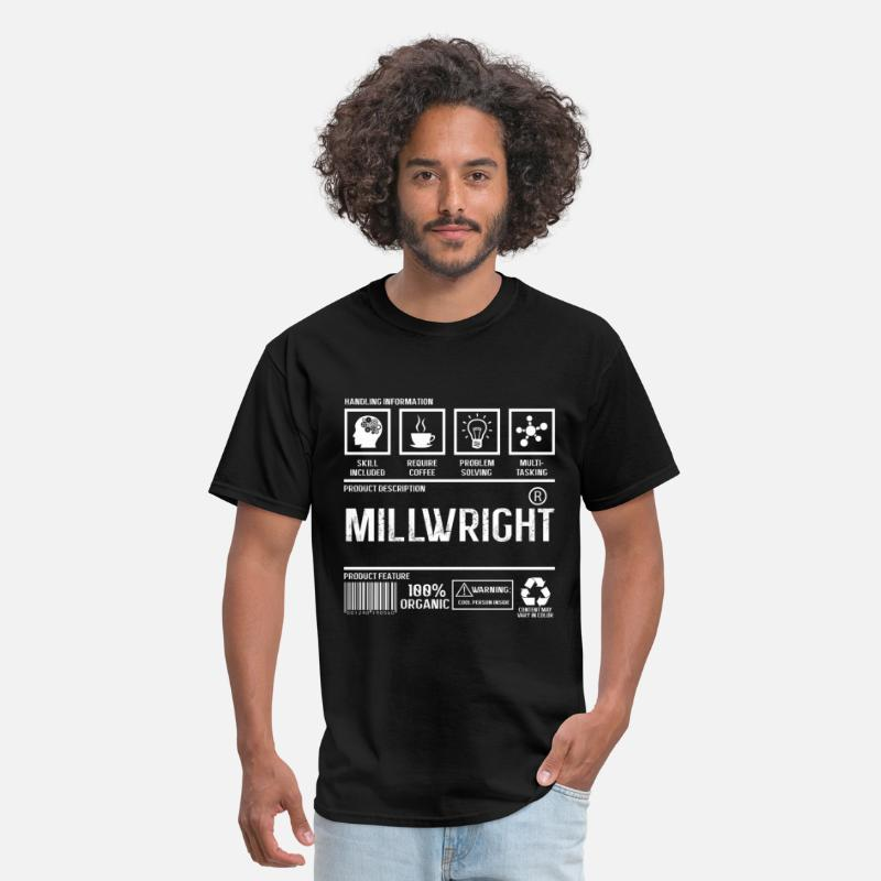 Information T-Shirts - Millwright - Handling information - Men's T-Shirt black