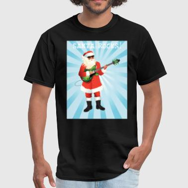 Rocking Santa Santa Rocks Christmas Shirt - Men's T-Shirt