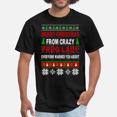 Frog Merry Christmas From Crazy Frog Lady - Men's T-Shirt