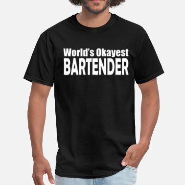 Princess Leia World s Okayest Bartender Mens Tee Pick Size Col - Men's T-Shirt