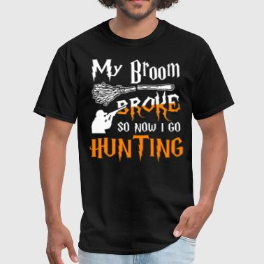 Ghost Dog My Broom Broke So Now I Go Hunting - Men's T-Shirt