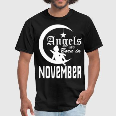 Angels are Born in November - Men's T-Shirt