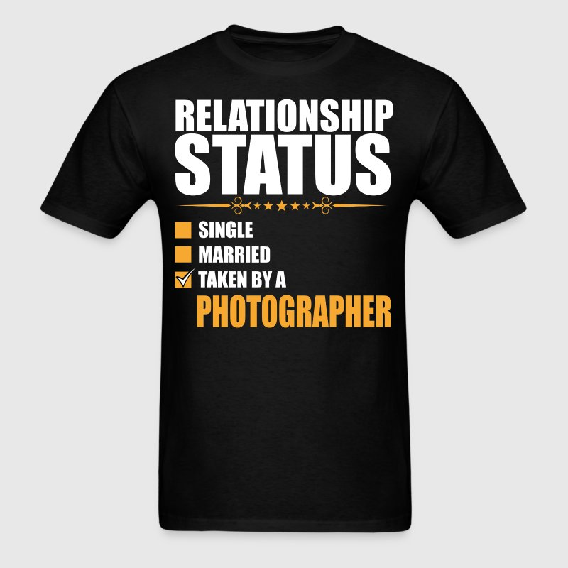 Relationship Status Single Married Photographer - Men's T-Shirt