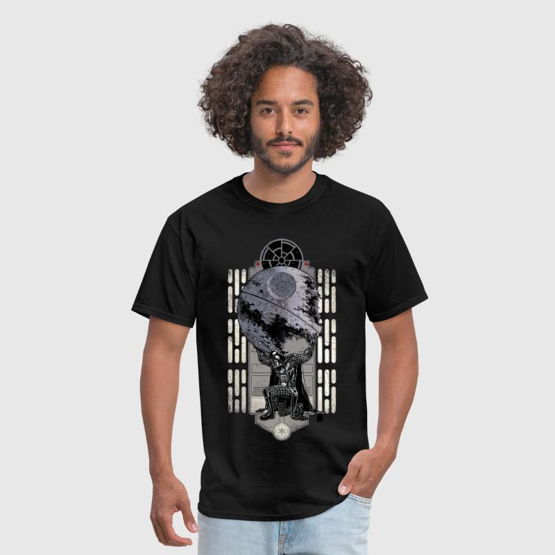 Funny star wars darth vader and the death star - Men's T-Shirt