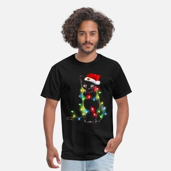Cat T-Shirts - Cat christmas shirt - Men's T-Shirt black