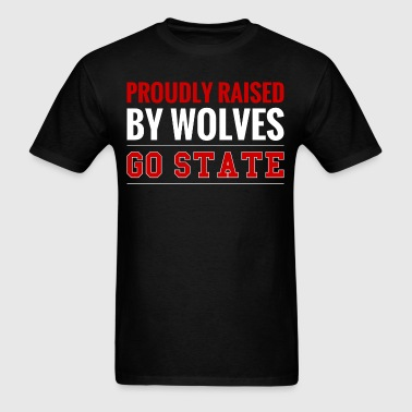 Proudly Raised By Wolves Go State - Men's T-Shirt