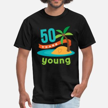 Birthday 50th Birthday Tropical Island - Men's T-Shirt