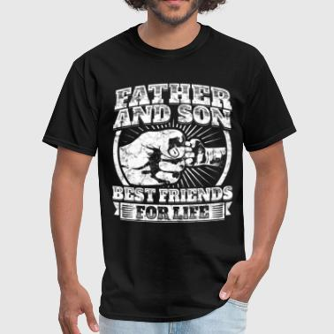 Father And Son Matching Gift Family Dad Fist Bump - Men's T-Shirt