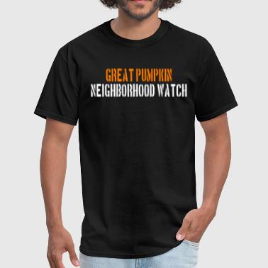Charlie Great Pumpkin Neighborhood Watch - Men's T-Shirt