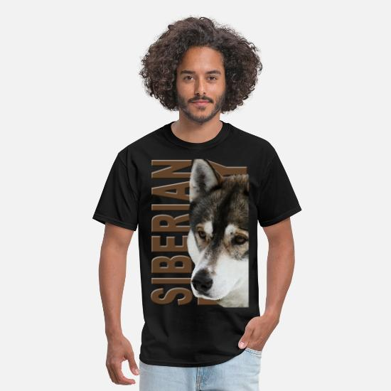 Husky T-Shirts - Siberian Husky - Men's T-Shirt black