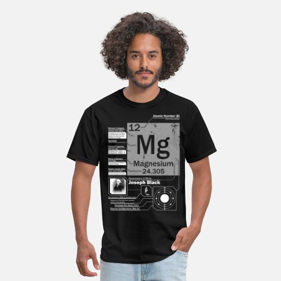 Teacher T-Shirts - Magnesium Mg 12 Element t shirt - Men's T-Shirt black