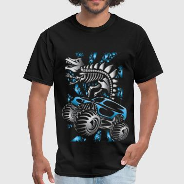 Monster Truck Skelton Blue - Men's T-Shirt