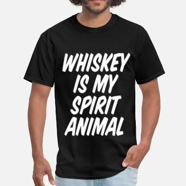 Whiskey Animals Whiskey Is My Spirit Animal - Men's T-Shirt