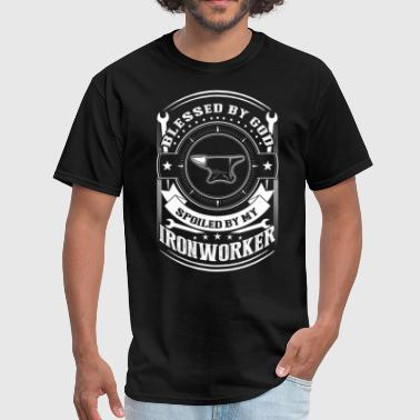 I Am Not Spoiled Blessed By God Spoiled By My Ironworker T Shirt - Men's T-Shirt