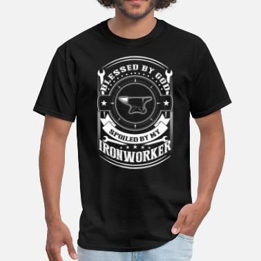 I Am Blessed Blessed By God Spoiled By My Ironworker T Shirt - Men's T-Shirt