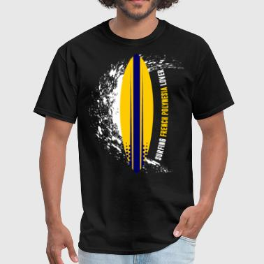 Surfing French Polynesia - Men's T-Shirt
