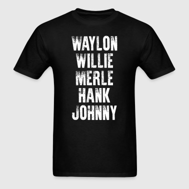 Hank Williams Jr Highwaymen Old Dogs Chris Staplet - Men's T-Shirt