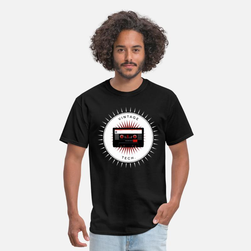 Geek T-Shirts - Vintage icons 06 - Audio cassette - Men's T-Shirt black