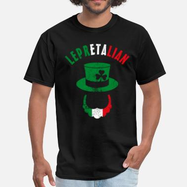 Irish Italian Lepretalian - Men's T-Shirt