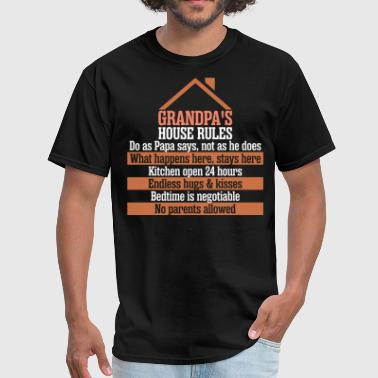 Grandpas House Rules - Men's T-Shirt