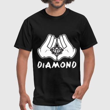 Illuminati Hip Hop Cartoon Hands Diamond most dope illuminati diamond - Men's T-Shirt