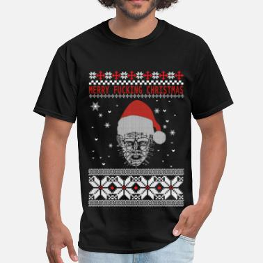 Horror Christmas Hellraiser Christmas - Merry fucking Christmas - Men's T-Shirt