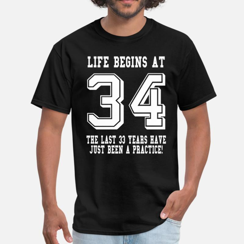 Shop 34 Birthday T Shirts Online