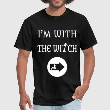 Im With Witch Funny Halloween - Men's T-Shirt