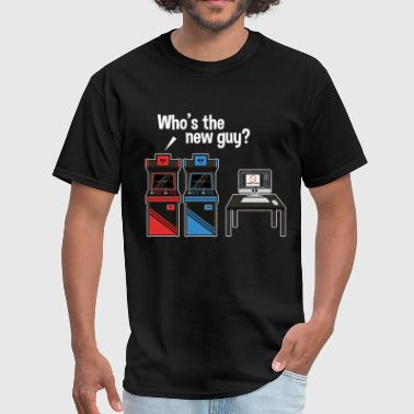 Who's The New Guy Arcade Jealousy Game - Men's T-Shirt