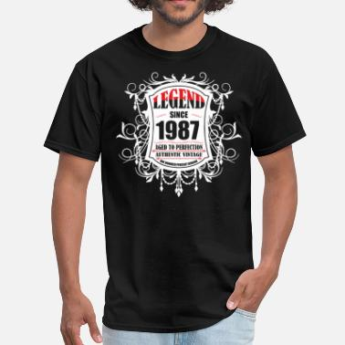 Legend Since 1987 Legend since 1987 Aged to Perfection Authentic Vin - Men's T-Shirt