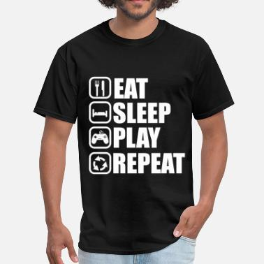 Eat Sleep Geek EAT SLEEP PLAY GEEK GAMER - Men's T-Shirt
