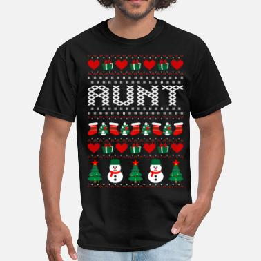 Aunt Christmas Aunt Ugly Christmas Sweater - Men's T-Shirt