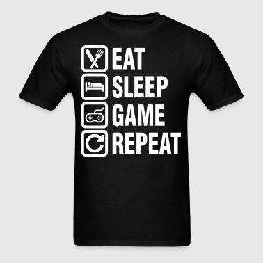 Eat Sleep Game Repeat - Men's T-Shirt
