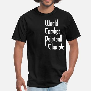 Back Clan World Combat Paintball clan shirt - Men's T-Shirt