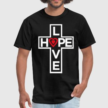 Love Hope Heart 2 - Men's T-Shirt