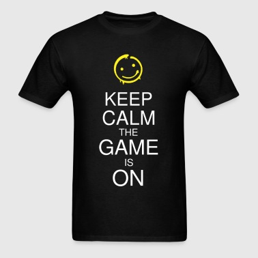 Keep Calm the Game is On (Smile) Men's - Men's T-Shirt