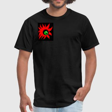red sun green eye - Men's T-Shirt