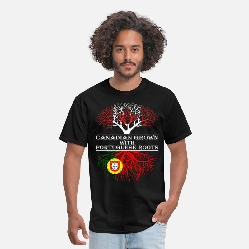 Canada T-Shirts - Canadian Grown With Portuguese Roots - Men's T-Shirt black