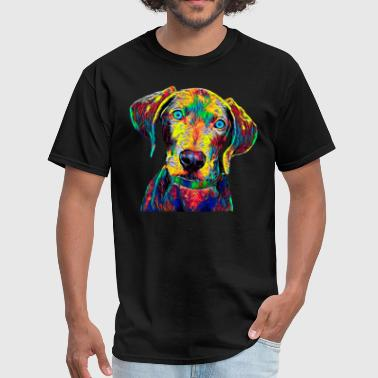 Weimaraner Dog Pet True Friend Colored Graphic Design - Men's T-Shirt