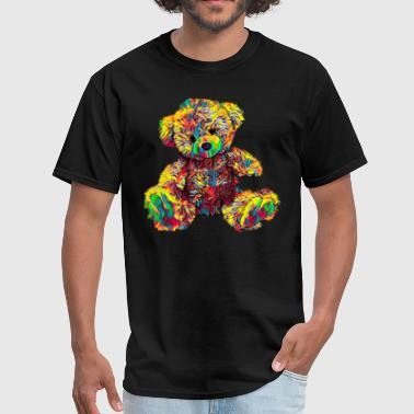 Cute Sleeping Bear Toy Stuffed Animal Color Design - Men's T-Shirt