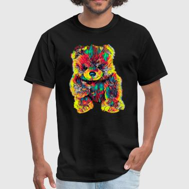 Cute Bear Toy Stuffed Animal Color Design - Men's T-Shirt