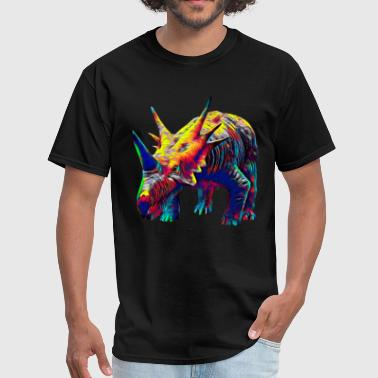 Cool Dinosaur Color Designed Creature - Men's T-Shirt