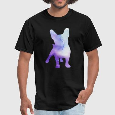 French Bulldog Cool Dog Yoga Design Abstract Colors - Men's T-Shirt