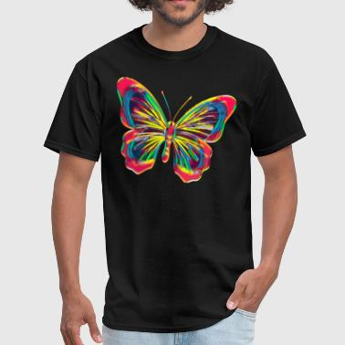 Butterfly Flying Creature Flower Nature Bug Colorful Design - Men's T-Shirt