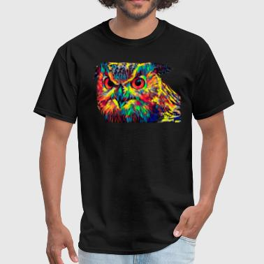 Abstract Eagle Eagle Owl Head Colored Design Abstract Symbol - Men's T-Shirt