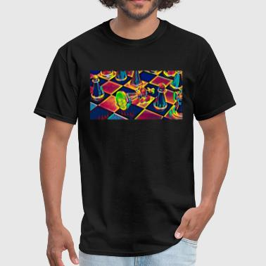 Chess Table Figures Sport Fan Design Colored - Men's T-Shirt